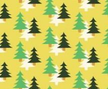 Fabric Freedom Camping - 4260 - Fir Trees on Yellow - FF96-1 - Cotton Fabric